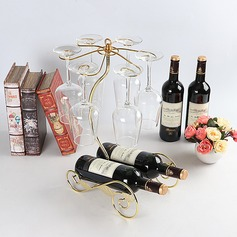 Traditional/Classic simple Plating Wine Rack