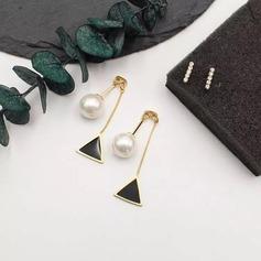 Brillant Alliage De faux pearl Dames Boucles d'oreille de mode