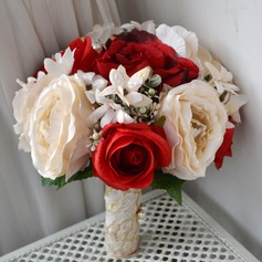 Attractive Redondo Seda artificiais Buquês de noiva -