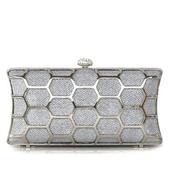 Charming Metal With Rhinestone Clutches