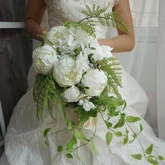 Élégante Cascade Satiné Bouquets de mariée (vendu en une seule pièce) - Bouquets de mariée