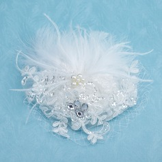Gorgeous Net Yarn/Feather/Lace Fascinators With Rhinestone