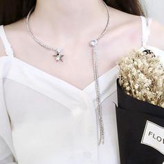 Unique Alloy With Rhinestone Zircon Women's Fashion Necklace