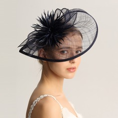 Ladies' Fashion/Special/Glamourous/Elegant/Unique/Fancy/Romantic/Vintage/Artistic Cambric/Feather Fascinators/Kentucky Derby Hats