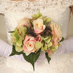 Elegant Round Dried Flower Bridal Bouquets - (123122812)