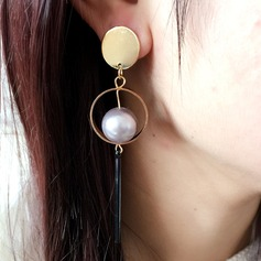 Nice Legering Imiteret Pearl med Imiteret Pearl Ladies ' Mode øreringe