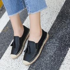De mujer PU Tacón plano Planos Cerrados con Borla zapatos