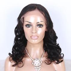 5A Jungfru/Remy Vågig Mänskligt hår Lace Front Parykar