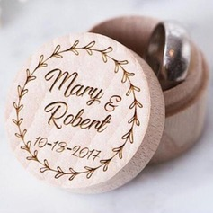 Simple/Elegante/Estilo clásico Caja del anillo en Madera