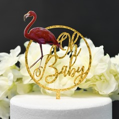 Classic/It's a Girl/It's a Boy Acrylic Cake Topper (Sold in a single piece)
