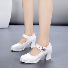 Женщины кожа На каблуках Обувь для Персонала Обувь для танцев