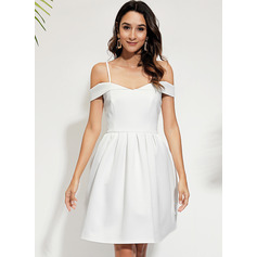 A-line Off the Shoulder Polyester Dresses (293237648)