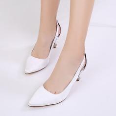 Women's Silk Like Satin Stiletto Heel Closed Toe Pumps With Rhinestone