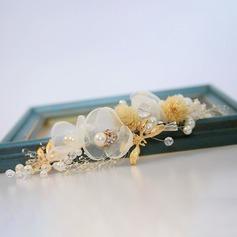 Damer Vackra Och Legering/Fauxen Pärla/Siden blomma Hårnålar med Venetianska Pärla