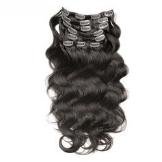 4A Nicht remy Körper Menschliches Haar Haarverlängerungen zum Anklammern 7PCS 100g