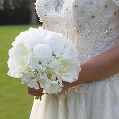 Bonito Seda artificiais Buquês de noiva/Buquês da nama de honra/Flores da Tabela do Casamento -
