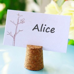 Bottle Stopper and Cork Place Card Holder (Set of 4)