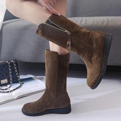 De mujer Ante Tipo de tacón Botas Botas longitud media con Cremallera zapatos
