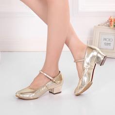Femmes Vrai cuir Escarpins Salle de bal Swing avec Boucle Chaussures de danse
