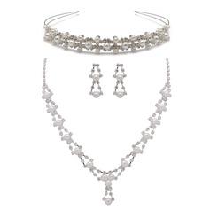 Bonito Liga/Pérola com Strass Senhoras Conjuntos de jóias