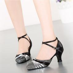 Femmes Pailletes scintillantes Talons Latin Modern Style Chaussures de danse