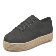 Femmes Suède Talon plat Chaussures plates avec Dentelle chaussures