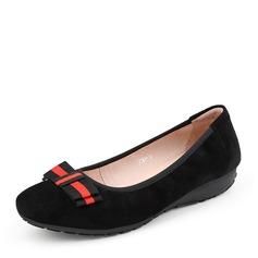 Kvinnor Mocka Flat Heel Platta Skor / Fritidsskor Stängt Toe med Bowknot skor