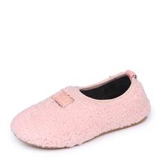 Mädchens Geschlossene Zehe Slipper & Slips Veloursleder Flache Ferse Flache Schuhe