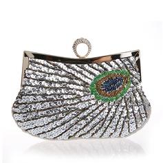 Elegant Paljetter Grepp/Handledsväskor/Totes väskor/Brudväska/Mode handväskor/Makeup Väskor/Lyx Bag