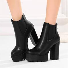 Naisten PU Chunky heel Nilkkurit jossa Split yhteinen kengät