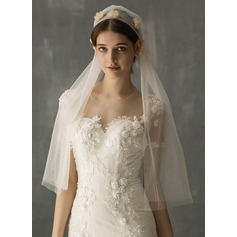 One-tier Cut Edge Elbow Bridal Veils