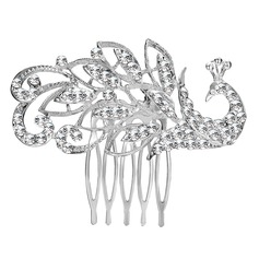 Ladies Hottest Alloy Combs & Barrettes With Rhinestone (Sold in single piece)