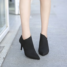 De mujer Lona Tacón stilettos Botas Botas al tobillo con Otros zapatos