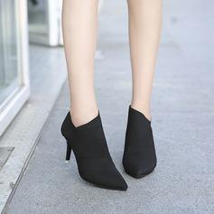 Femmes Toile Talon stiletto Bottes Bottines avec Autres chaussures