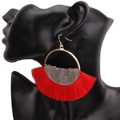Legering Akryl med Tofsar Kvinnor Mode örhängen