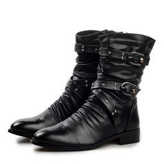Мужская кожа из микроволокна челси вскользь Men's Boots