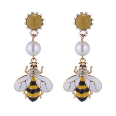 Lovely Alloy Rhinestones Imitation Pearls With Imitation Pearl Rhinestone Women's Fashion Earrings