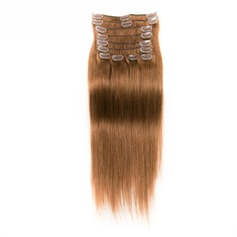 4A Ej remy Rakt människohår Klämma i hårförlängningar 10PCS 100g