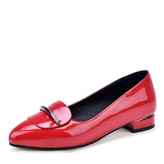 Women's Leatherette Patent Leather Flat Heel Flats shoes