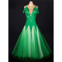 Women's Dancewear Organza Latin Dance Dresses