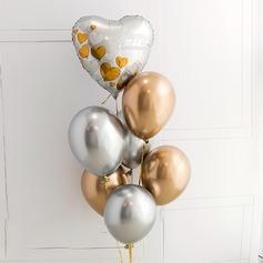 Beau Élégante Aluminium Foil/Emulsión Ballon (7 Pièces)