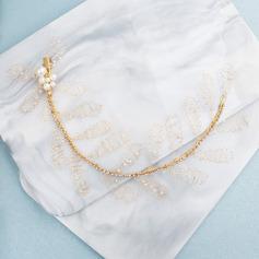 Ladies Lovely Rhinestone/Imitation Pearls Headbands With Rhinestone/Venetian Pearl (Sold in single piece)