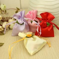 Sacs cadeaux avec Fleurs (Lot de 12)