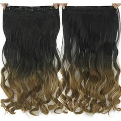 Kropp syntetiska hår Klämma i hårförlängningar (Säljs i ett enda stycke)