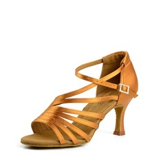 Women's Satin Silk Latin Dance Shoes