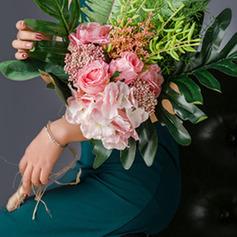 Простой и элегантный Свободной формы шелковые цветы/пластиковые Свадебные букеты/Невесты Букеты - Свадебные букеты