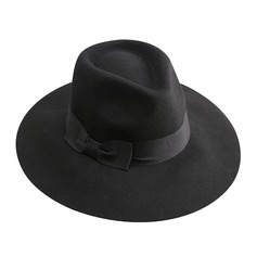 Kønsrelaterede Enestående Uld med Bowknot Diskette Hat (196075281)