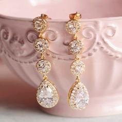 Hermoso Diamantes de imitación/Circón con Rhinestone Señoras' Pendientes