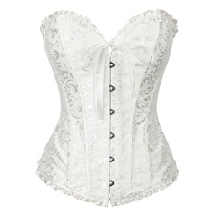 Women Sexy/Night Club Spandex/Chinlon Waist Cinchers/Corset With Ruffles/Printing Shapewear (125032535)