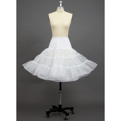 Women Tulle Netting/Polyester/Spandex Knee-length 3 Tiers Petticoats (037033984)